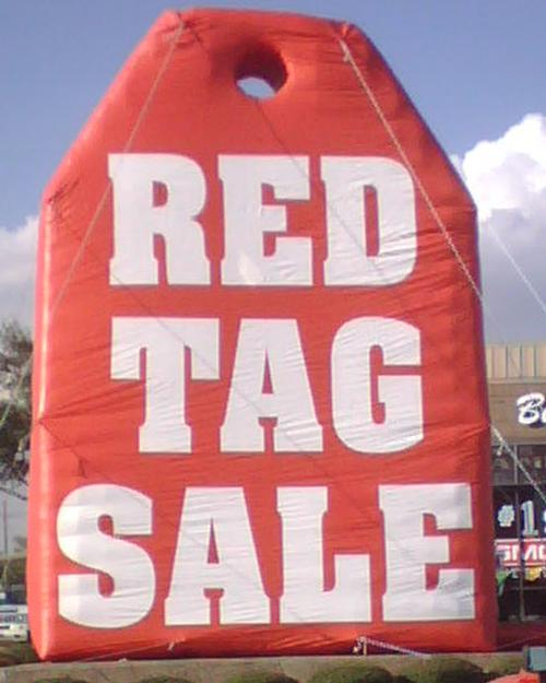 Inflatable Red Tag