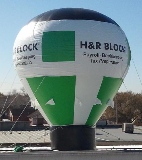 H&R Block Hot Air Balloon Inflatable