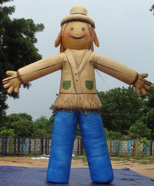 Festive Fall Scarecrow Inflatable